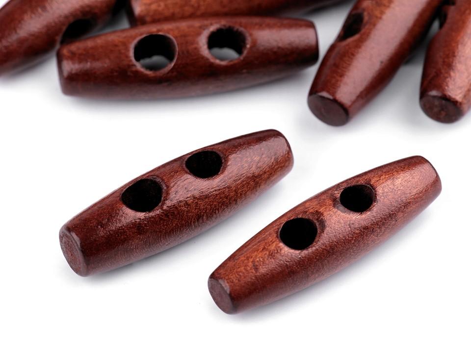 Knebelknopf Holz 40mm nuss lackiert