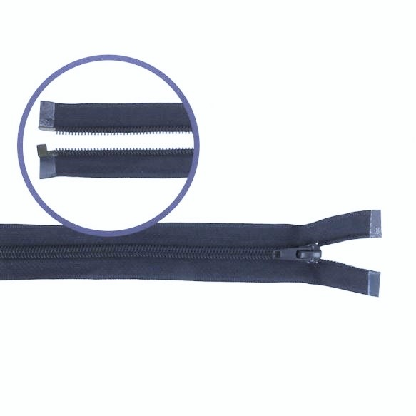 Reissverschluss teilbar Nylon navy 45cm