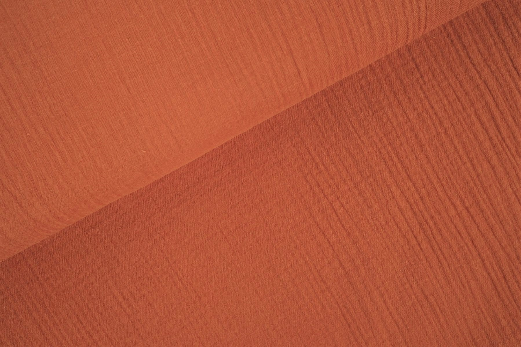 Double Gauze / Musselin uni light copper orange
