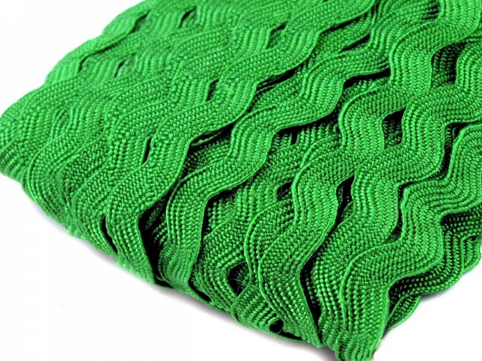 Zackenlitze 5mm grasgrün