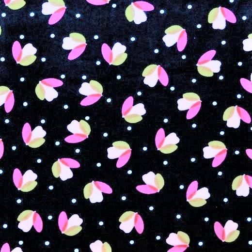 Nicki navy mit weißen Dots und Tulpen