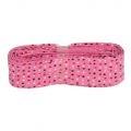 3m Baumwoll Schrägband pink mit bunten Punkten 20mm
