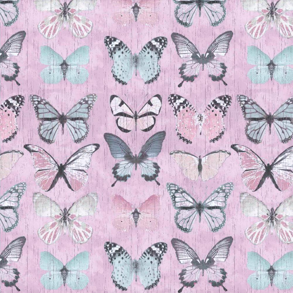 """Canvas """"Beautiful Butterflies"""" - rosa"""