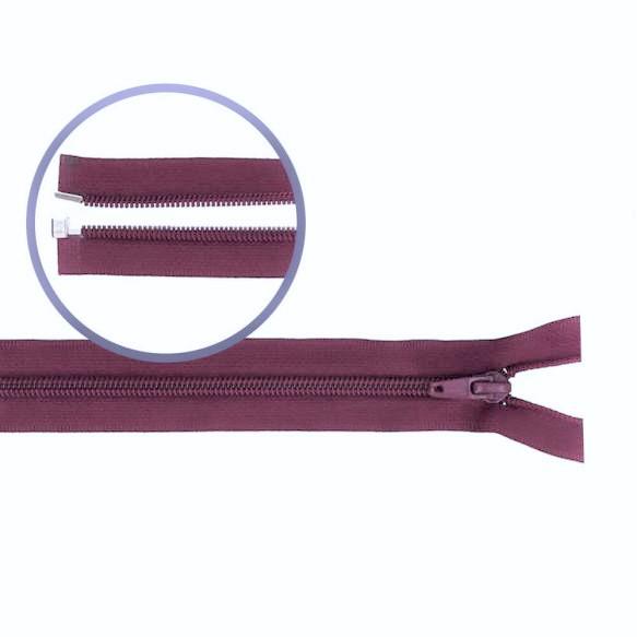 Reissverschluss teilbar Nylon weinrot 50cm