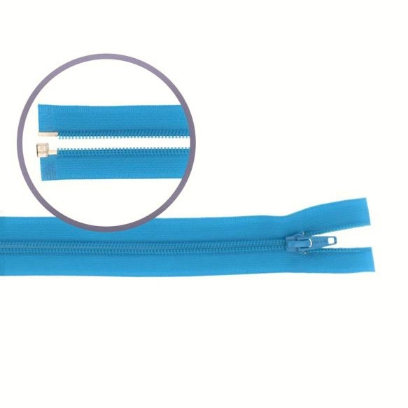 Reissverschluss teilbar Nylon türkis, 75cm (548)