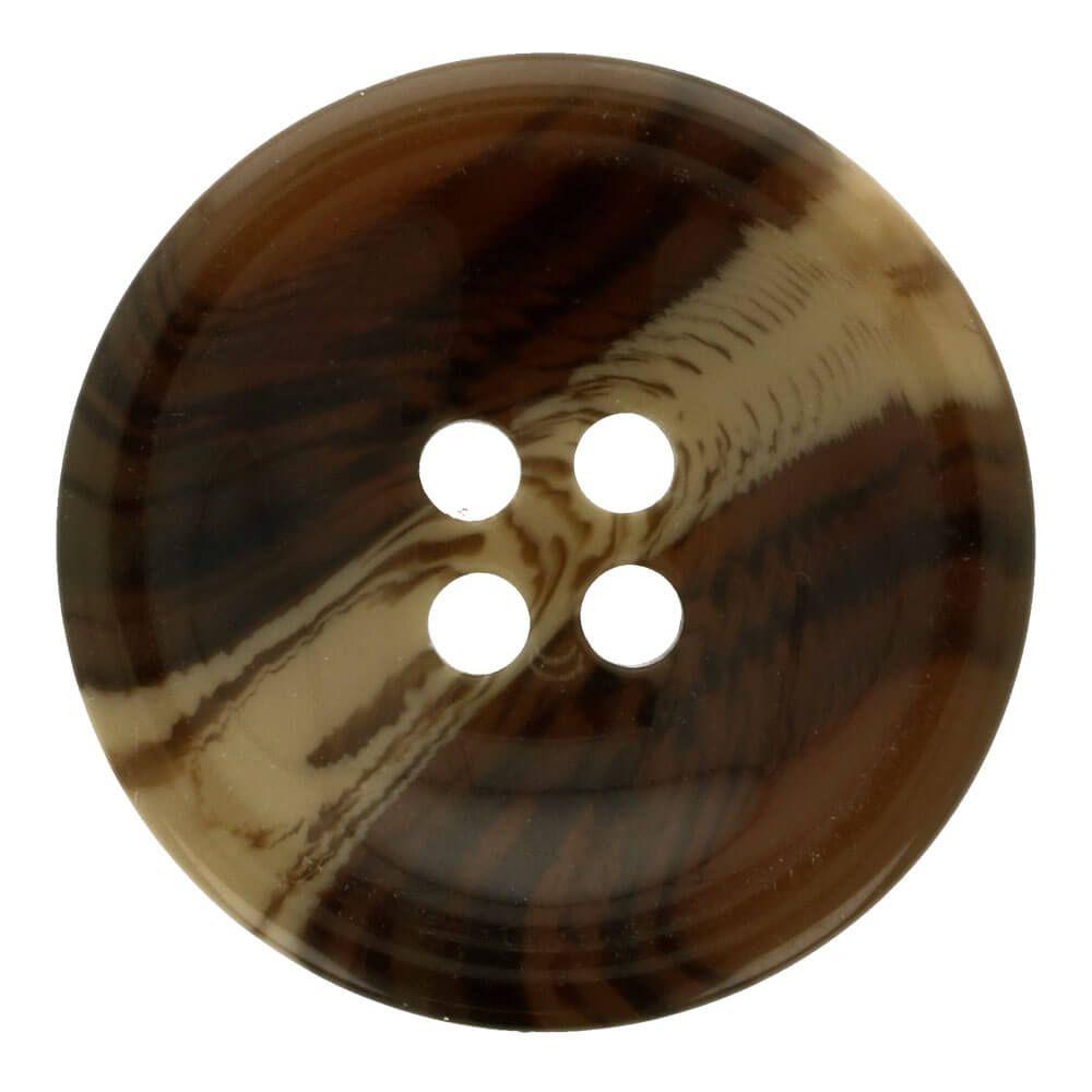 Knopf Mantel Streifen 33,75mm braun/beige