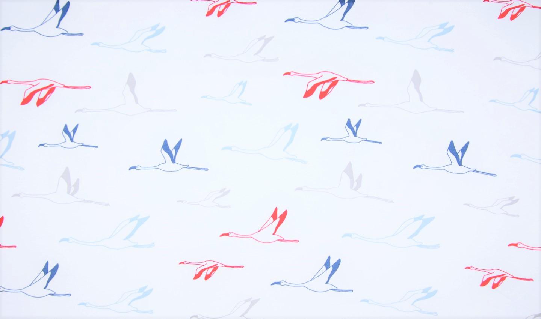 Sommersweat maritim weiß mit Vögeln