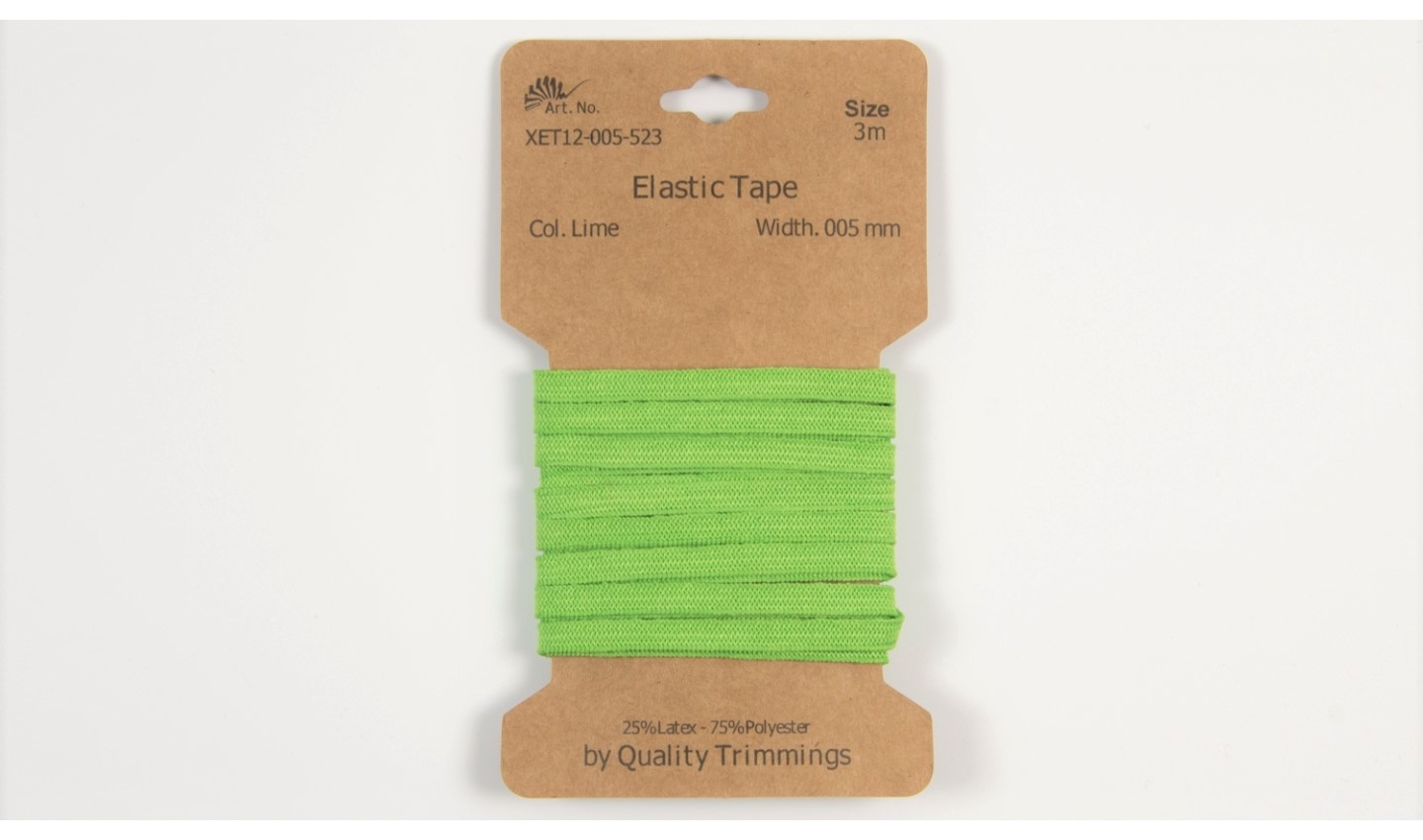 Karte 3m Elastik Gummi 5mm breit in lime (523)