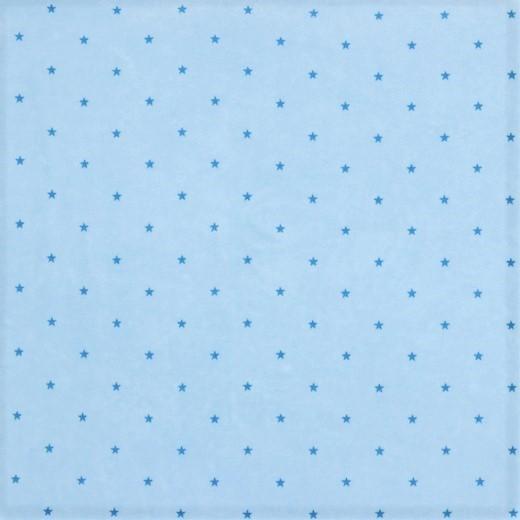 1,05 m Reststück       Nicki hellblau mit petrol Sternen