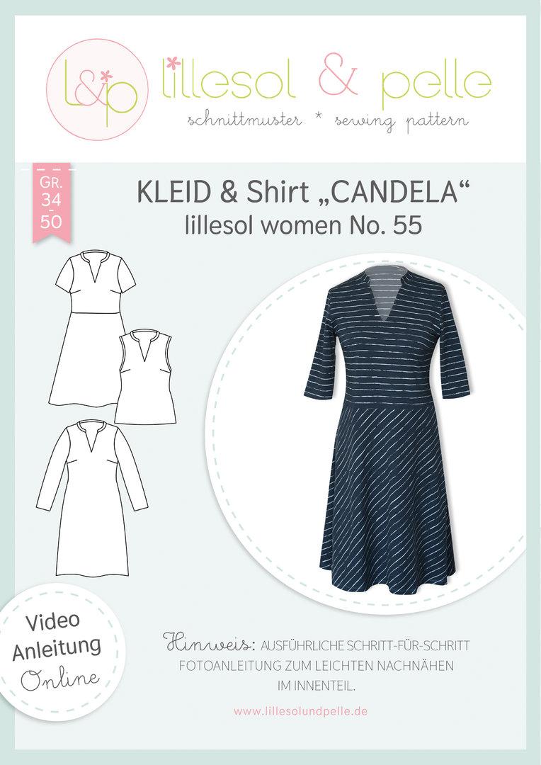 Papierschnittmuster Kleid & Shirt Candela lillesol women No.55 von Lillesol&Pelle