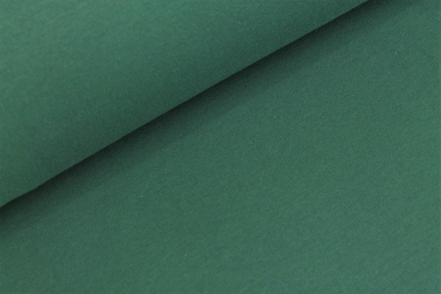 Bündchenstoff uni fantasie grün