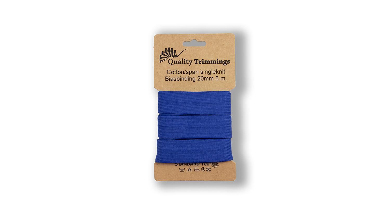 Schrägband Jersey Ben uni royalblau (007) Karte 3m