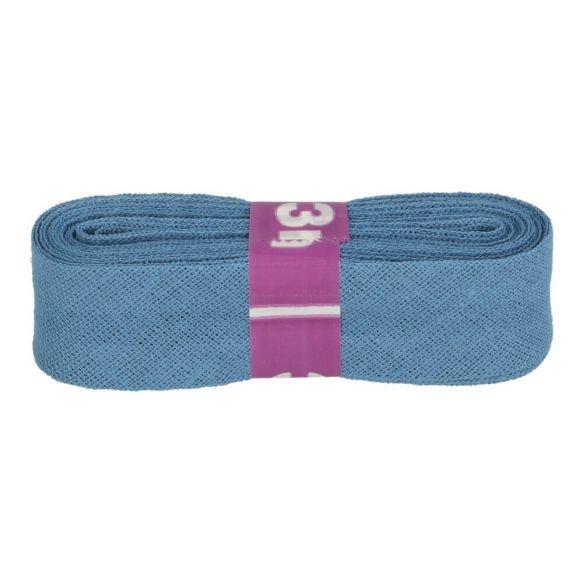 3m Baumwoll Schrägband uni jeansblau 12mm