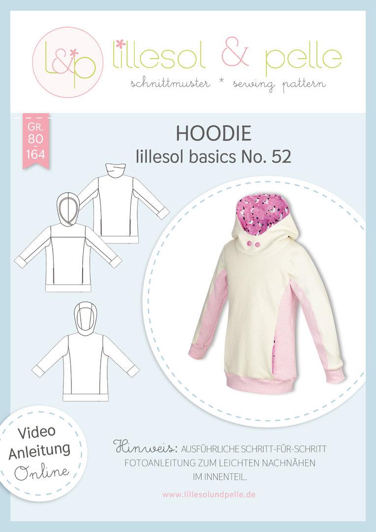Papierschnittmuster Hoodie kids basics No.52 von Lillesol&Pelle