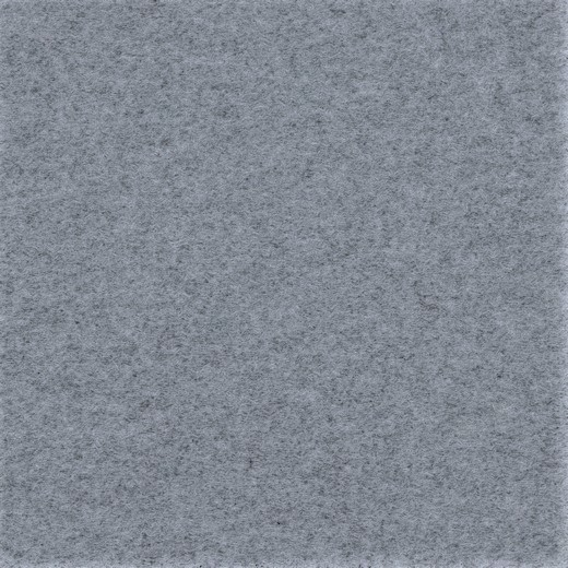 Boiled Wool uni grau melange