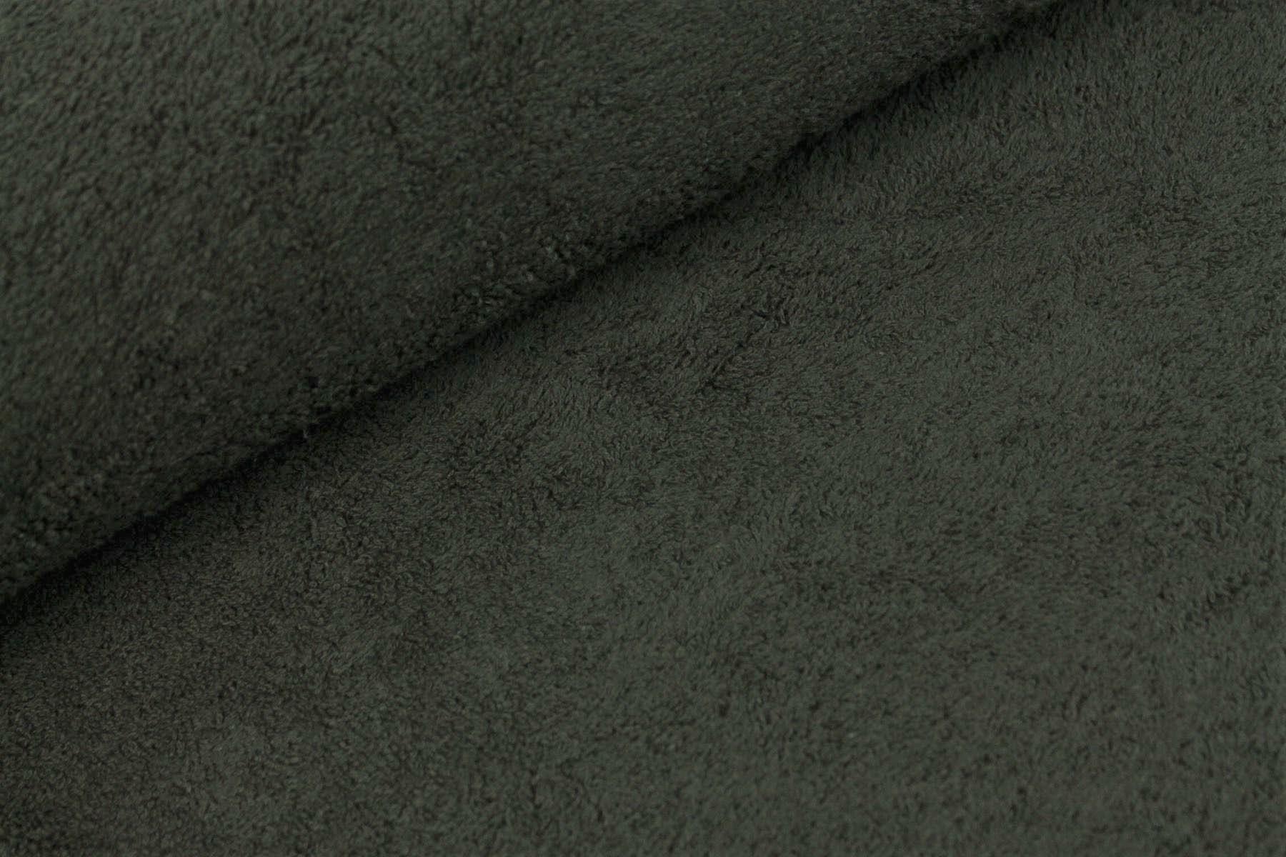 Frotteestoff uni schwarz