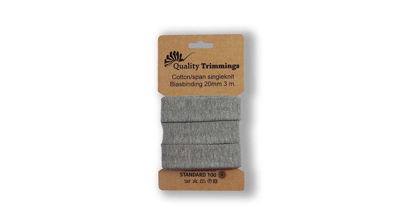 Schrägband Jersey Ben uni middle grey (166) Karte 3m