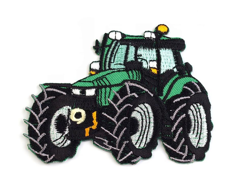 Applikation mit grünem Traktor