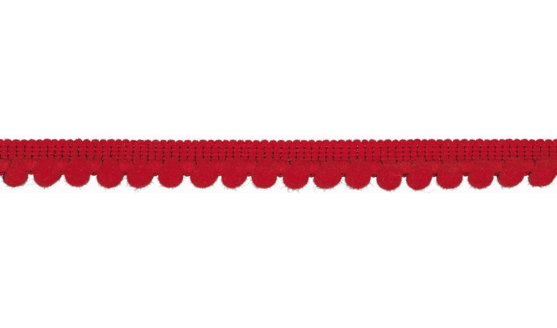 Pom Pom Borte in uni red 6mm (515)