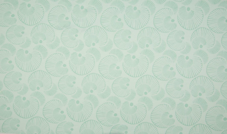 """Interlock Organic Cotton """"Circles"""" - mint"""