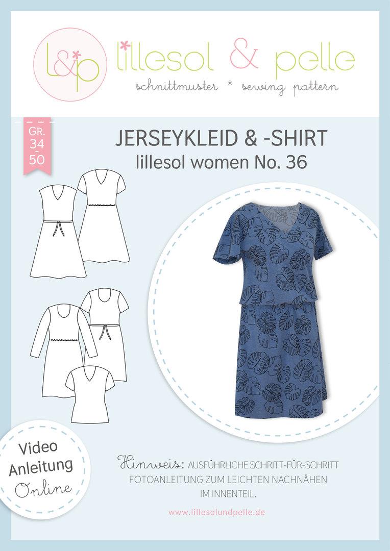 Papierschnittmuster Jerseykleid & -Shirt lillesol women No.36 von Lillesol&Pelle