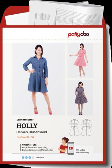 Papierschnittmuster Damen Blusenkleid Holly von PattyDoo