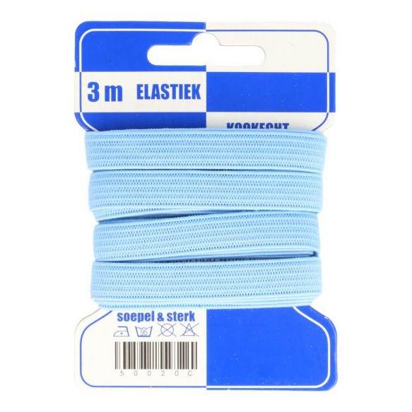 Karte 3m Gummi 10mm breit in hellblau