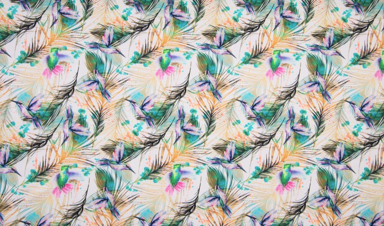"Sommersweat Digital ""Hummingbird"" - creme"