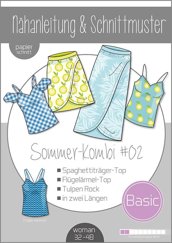Papierschnittmuster Damen Sommer Kombi  #02 32-48 von Ki-ba-doo