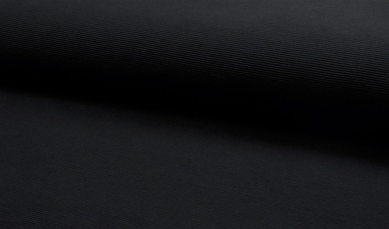 Ottoman Rib Jersey uni schwarz