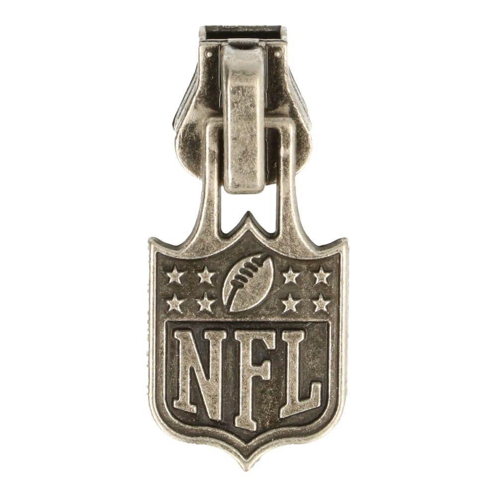 Schieber Profilreissverschluss NFL Anhänger