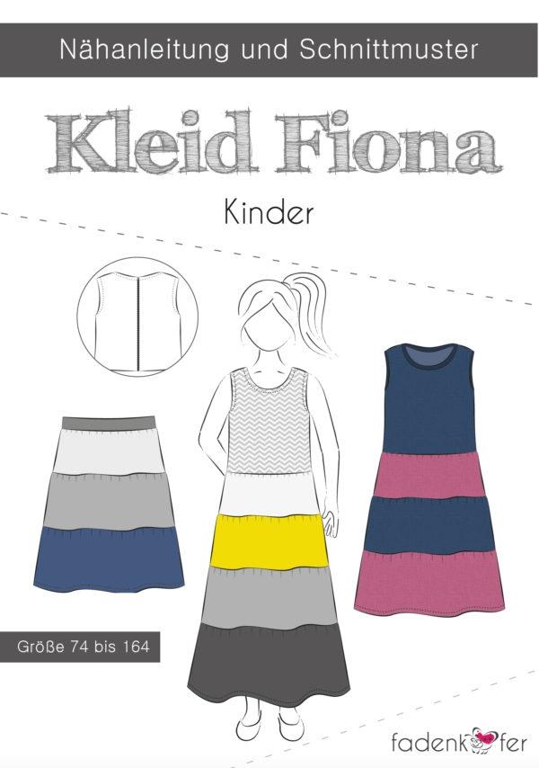 Papierschnittmuster Kleid Fiona für Kinder 74-164 von Fadenkäfer