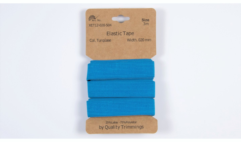 Karte 3m Elastik Gummi 20mm breit in türkis (504)