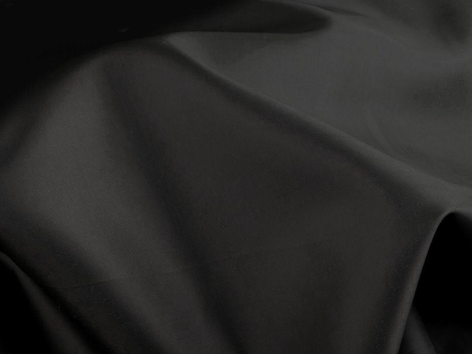 Futterstoff uni schwarz