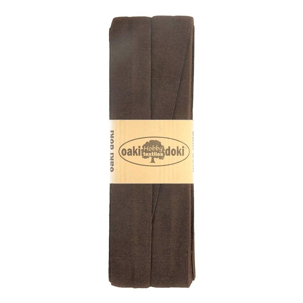 3m Schrägband Jersey uni dunkelbraun (501)