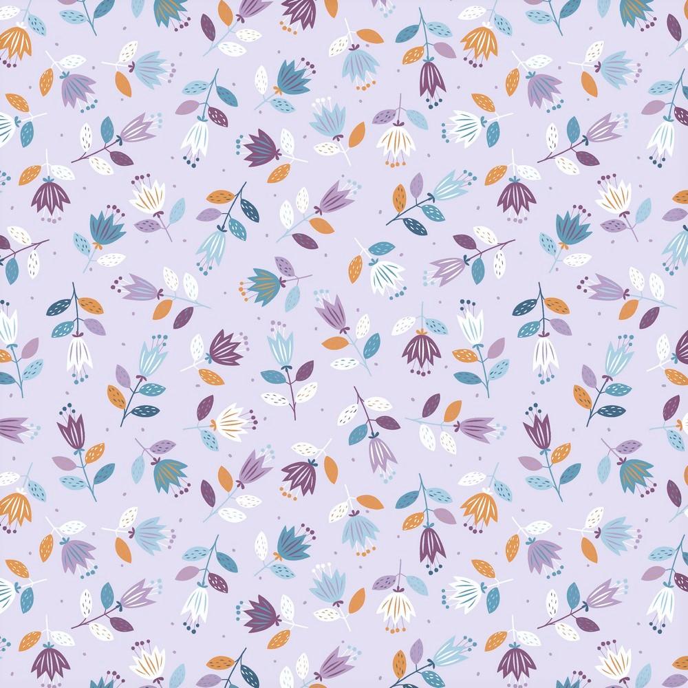 "Sommersweat Organic Cotton ""Spring Flowers"" - flieder"