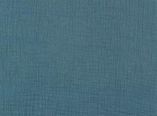 Double Gauze / Musselin uni jeansblau