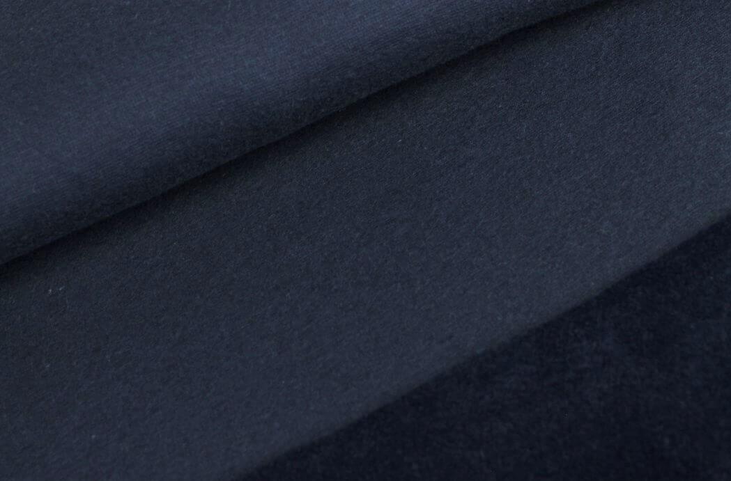 "0,97m Reststück  Alpenfleece ""Noah"" uni dunkelblau"