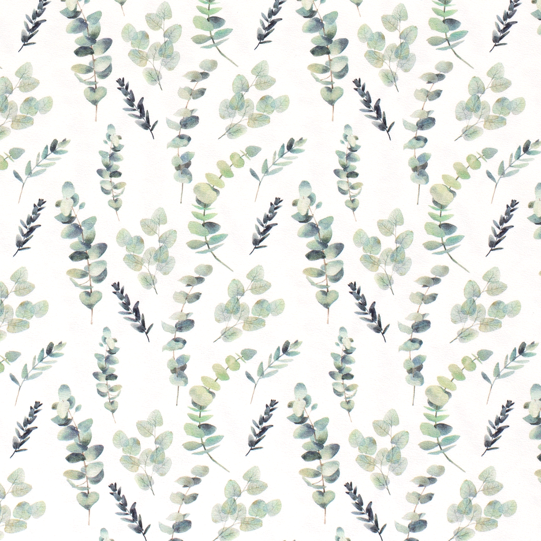 Digitaljersey offwhite mit Blätter und Zweigen