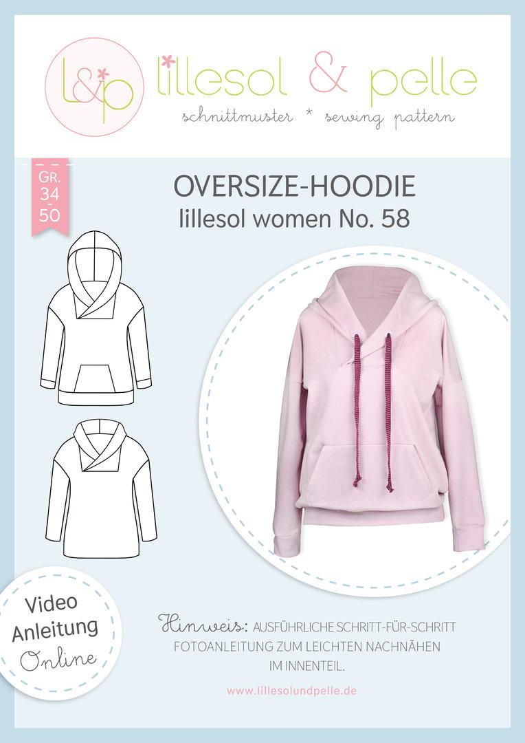 Papierschnittmuster Oversize-Hoodie lillesol women No.58 von Lillesol&Pelle