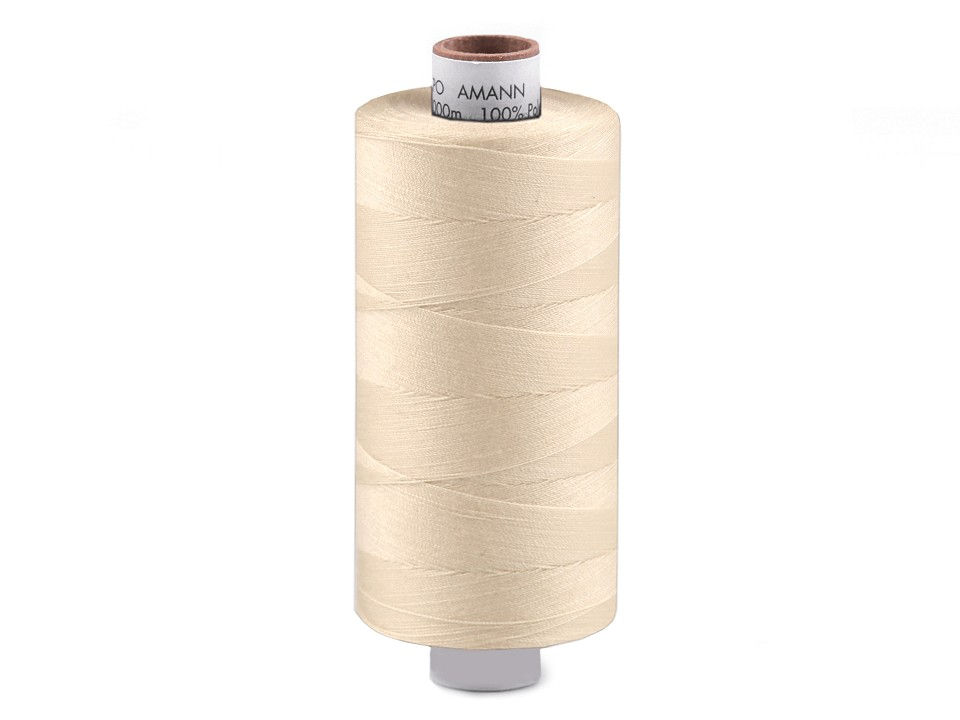 Amann Polyester Aspo Garn 1000m - creme (3000)