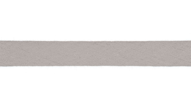 Schrägband Musselin uni silbergrau (061)