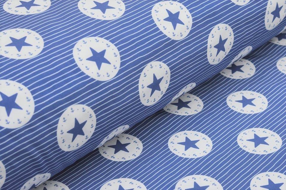 Softshell blau gestreift mit Sternen im Kreis