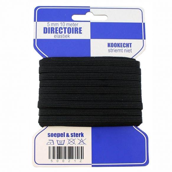 Blaue Karte 5m Gummi 10mm breit in schwarz