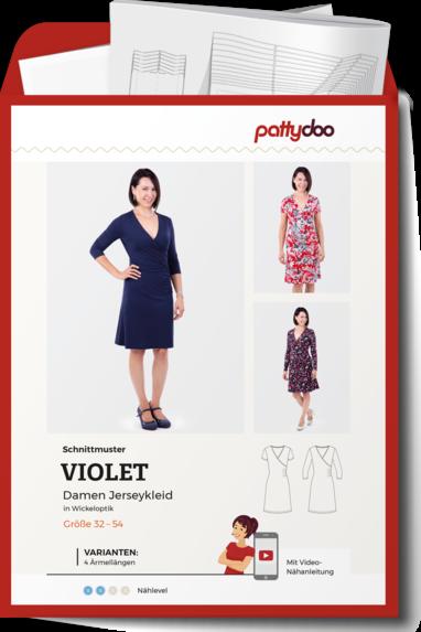 Papierschnittmuster Damen Jersey-Wickelkleid Violet von PattyDoo