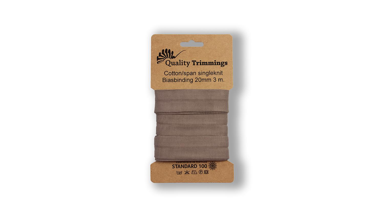 Schrägband Jersey Ben uni taupe (055) Karte 3m