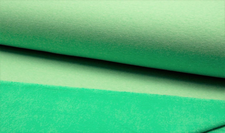 Alpenfleece uni grün melange