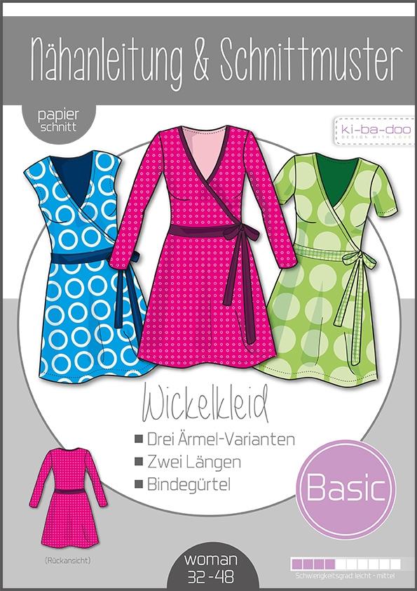 Papierschnittmuster Damen Basic Wickelkleid 32-48 von Ki-ba-doo