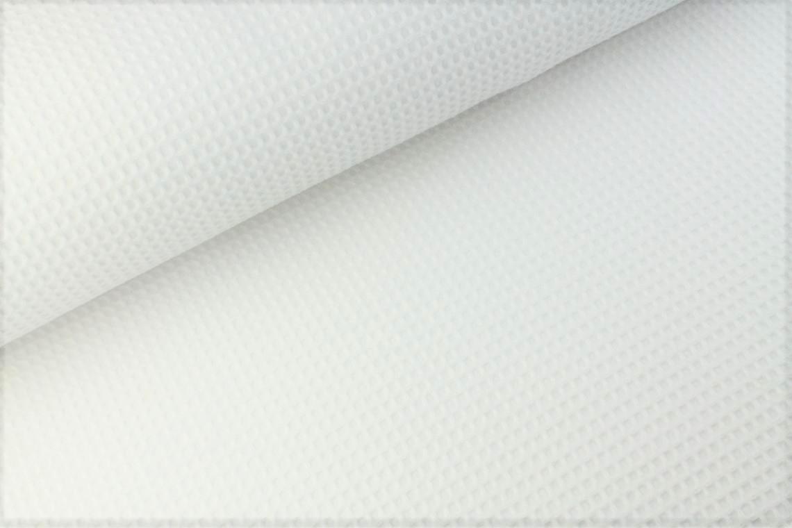 Waffelstoff uni weiß