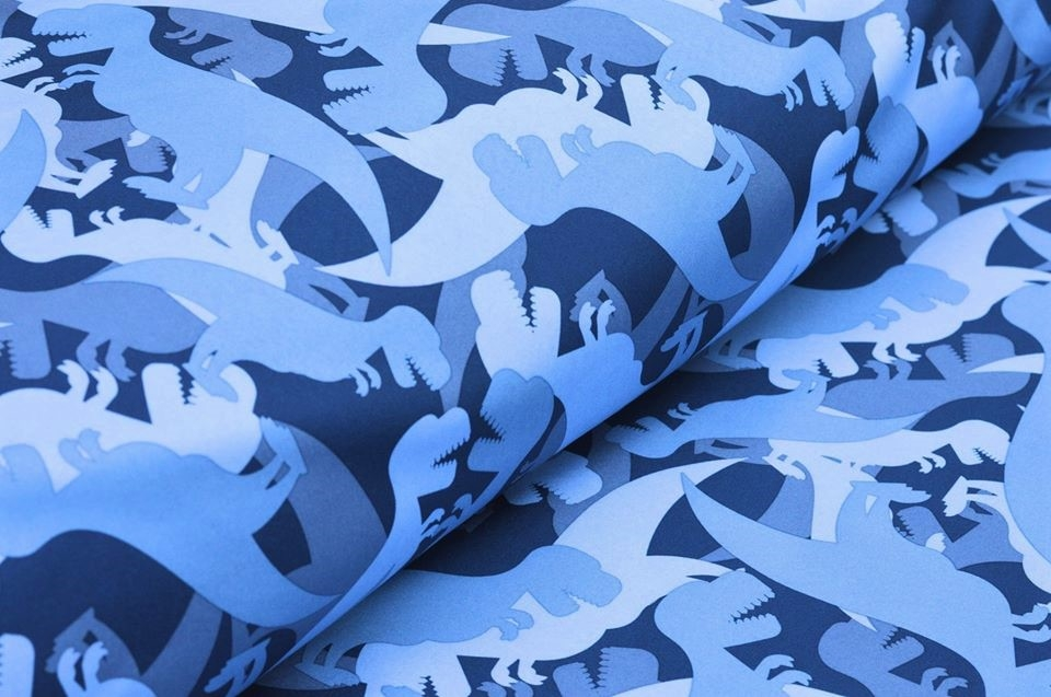 Softshell Swafing Sheldon dunkelblau mit Dinosaurier